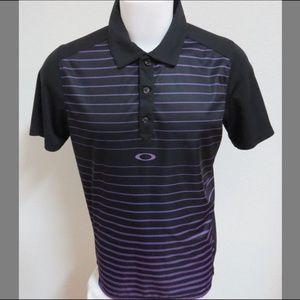 Sz M Striped Oakley O-Hydraulix Men #29Y Golf Polo
